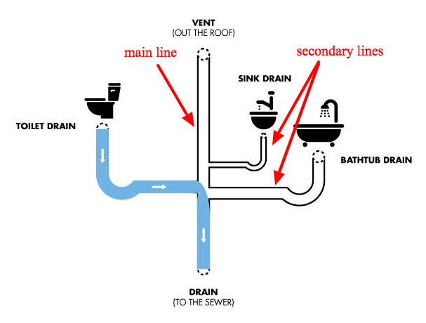 Main Sewer Line vs Secondary Lines